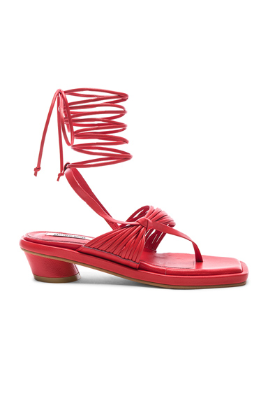 Reike Nen Unbalanced String Flip Flop in Red. - size 38 (also in 38.5,39,40)