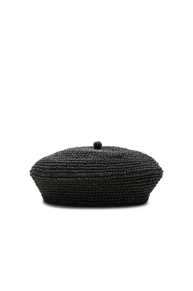 SENSI STUDIO Classic Beret in Black. - size S (also in M)