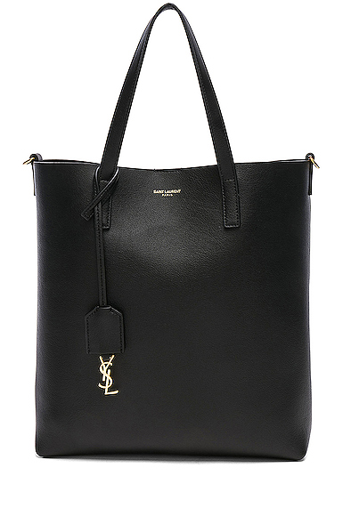 Saint Laurent Toy North South Tote Bag in Black.