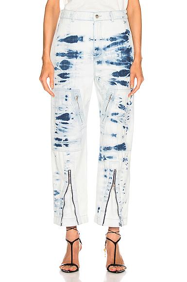 Stella McCartney Tie Dye Jean in Blue. - size 27 (also in 24,25,26,28)