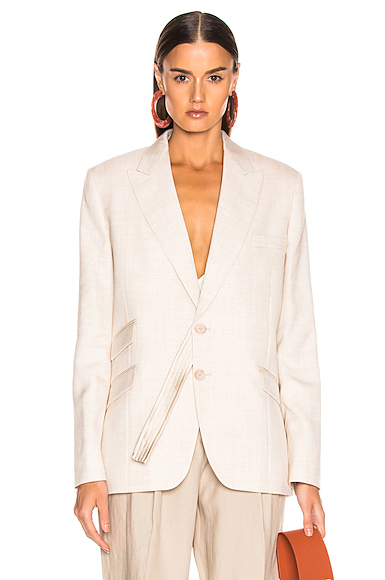 Stella McCartney Tailored Jacket in Nude. - size 42 (also in 36,40)