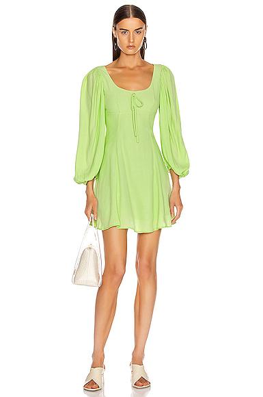 Staud Juniper Dress in Green. - size 2 (also in 0)