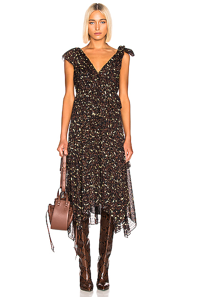 Ulla Johnson Dania Dress in Abstract,Brown. - size 0 (also in 2,4)