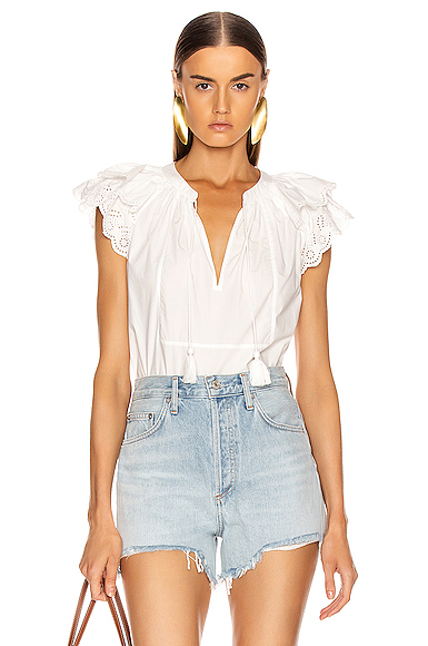 Ulla Johnson Elm Top in White. - size 0 (also in 4)
