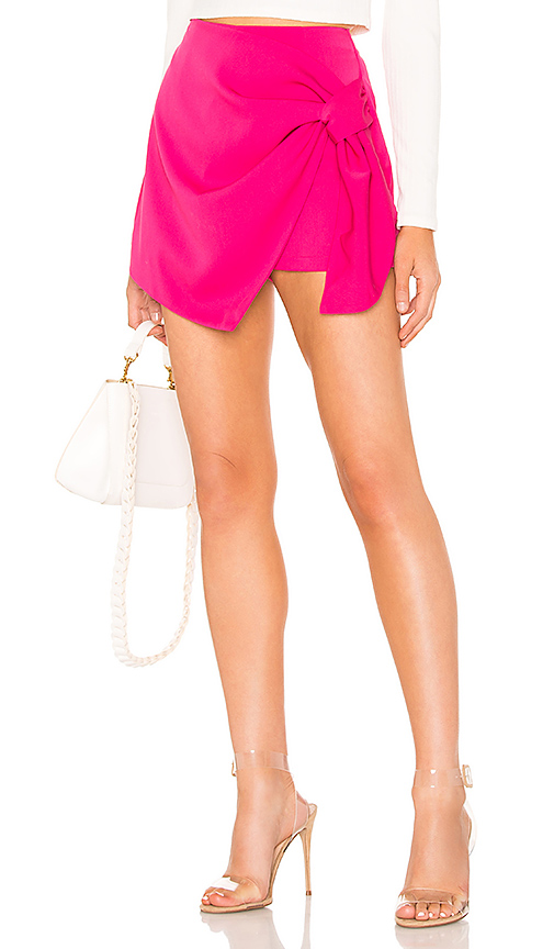 About Us Hillary Wrap Front Skort in Pink. - size XXS (also in M,XS)