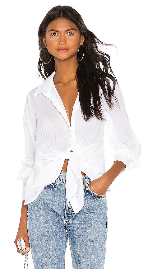 ALLSAINTS Sirena Shirt in White. - size L (also in XS,S,M)