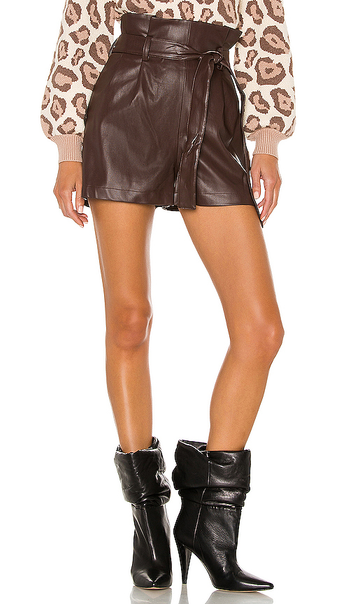 Amanda Uprichard Tessi Shorts in Brown. - size S (also in XS,M,L)