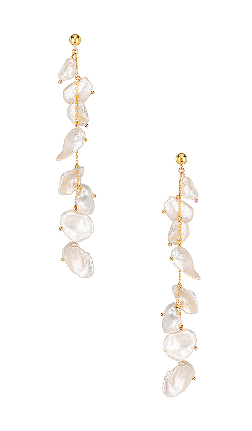 Amber Sceats Miller Earrings in Metallic Gold.
