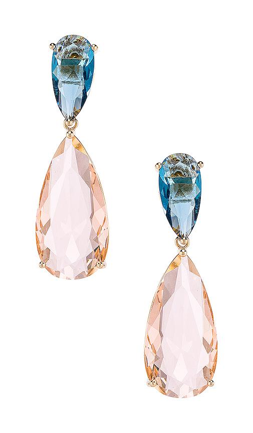 Amber Sceats Gem Earrings in Pink.