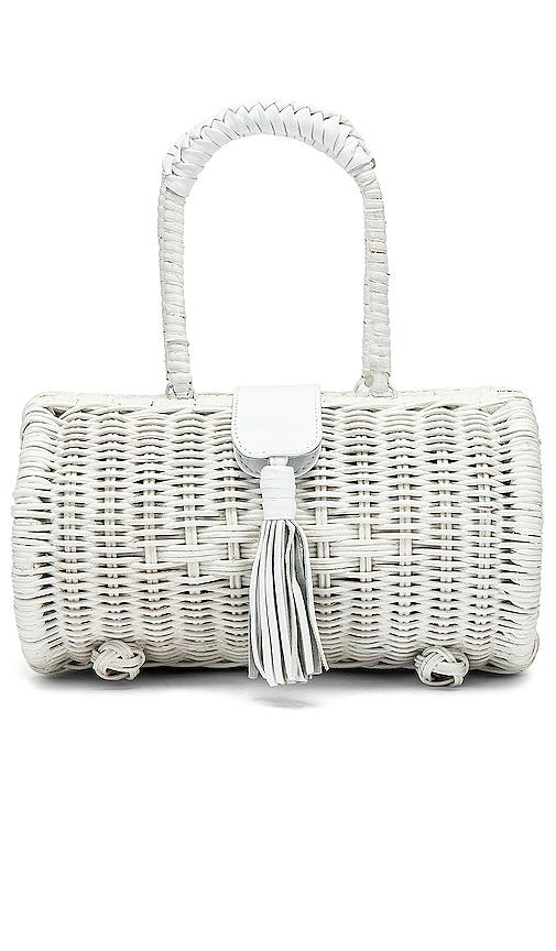 Cleobella Clarissa Basket Bag in White.