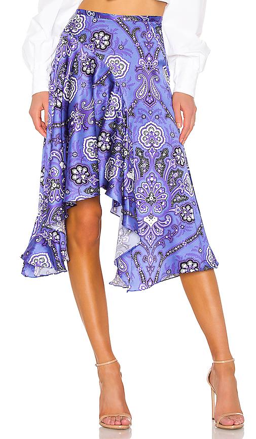 Caroline Constas Flounce Skirt in Black. - size L (also in XS,S,M)