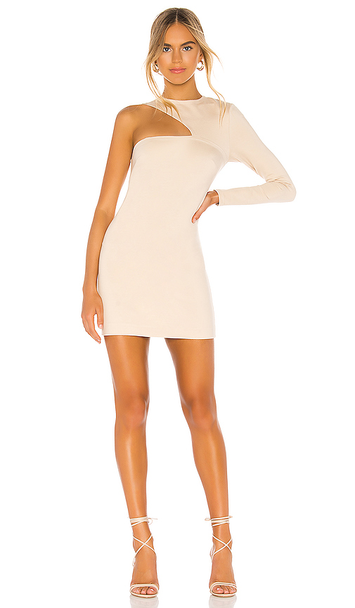 Donna Mizani Splice Dress in Cream. - size L (also in XS,S,M)