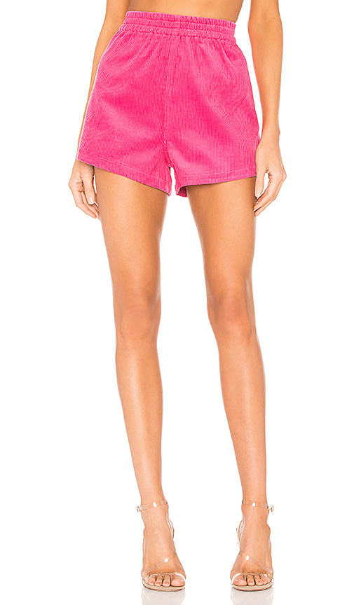 Dr. Denim Nadeja Corduroy Short in Pink. - size L (also in M,S,XS)