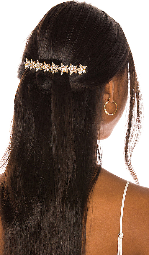 Elizabeth Cole Meryl Hair Comb in Metallic Gold.