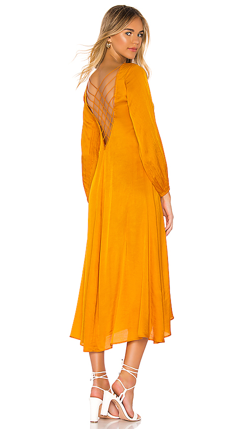 Free People Later Days Midi Dress in Orange. - size 6 (also in 2,0,8,4,10)