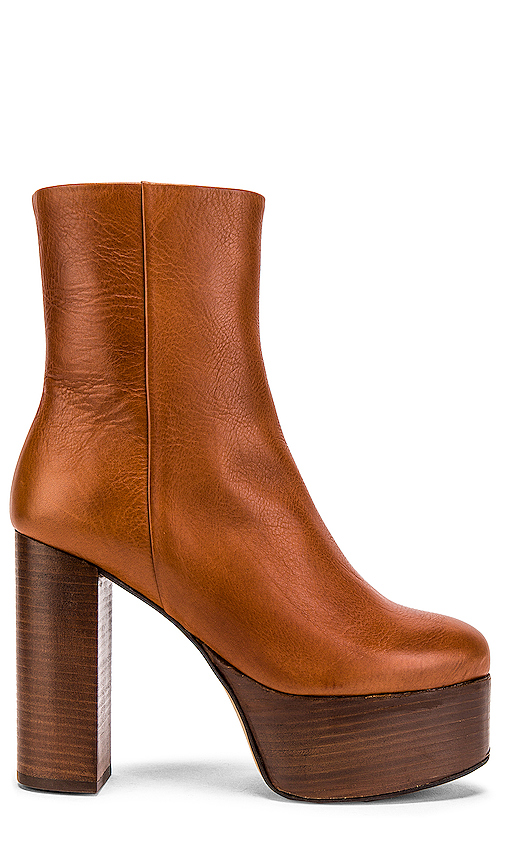 Free People Friday Night Platform Boot in Brown. - size 39 (also in 37,38,40,41,36)
