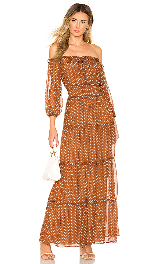House of Harlow 1960 x REVOLVE Sapphire Dress in Chocolate. - size XXS (also in XS,S,M,L,XL)