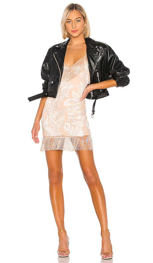 h:ours Janisa Embellished Mini Dress in Blush. - size M (also in L,S,XL,XS,XXS)