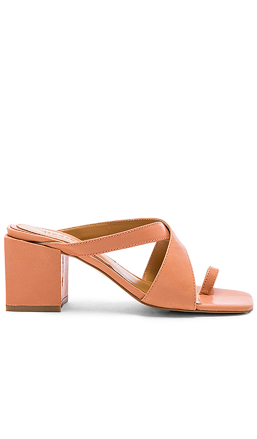 JAGGAR Converge Sandal Heel in Brick. - size 36 (also in 37,38,39,40)