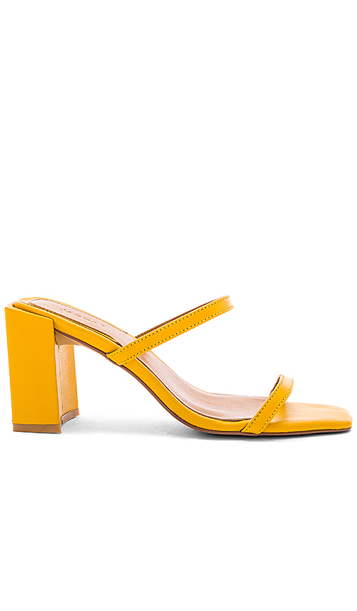 JAGGAR Square Heel in Yellow. - size 36 (also in 37,39)
