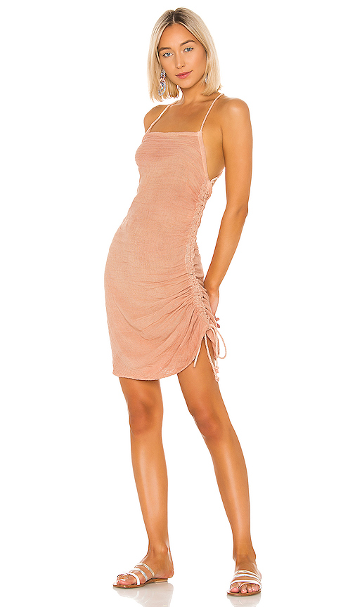 Jen's Pirate Booty Crossings Mini Dress in Blush. - size XS (also in S,M,L)