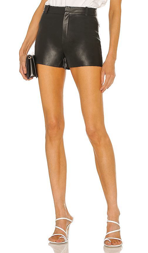 LAMARQUE Garnet Leather Shorts in Black. - size 0 (also in 2,4,6,8)