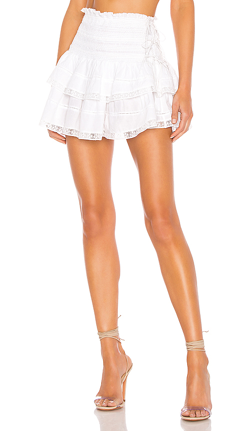 LoveShackFancy Mira Skirt in White. - size XS (also in S)