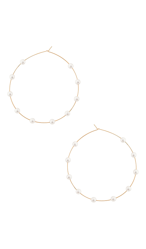 Lili Claspe Molly Hoop in Metallic Gold.
