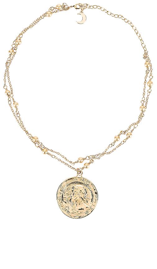 Lili Claspe Thoul Choker in Metallic Gold.