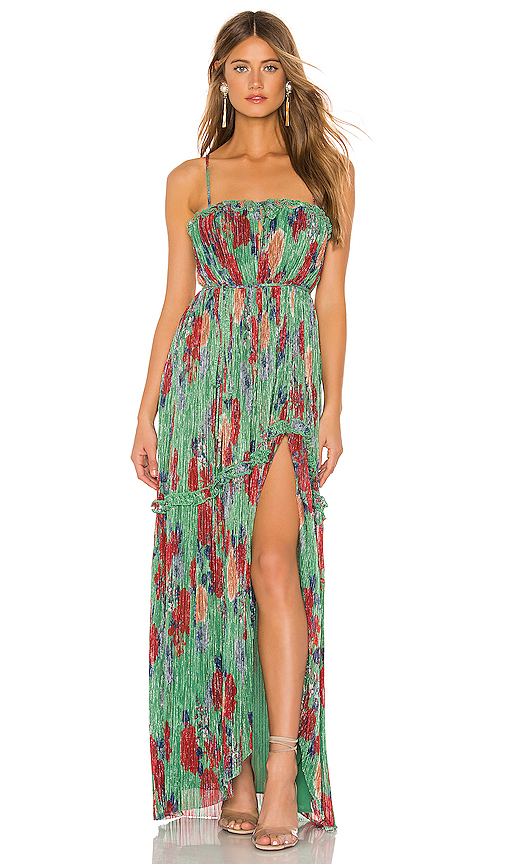 Lovers + Friends Tamira Gown in Green. - size L (also in XXS,XS,S,M)