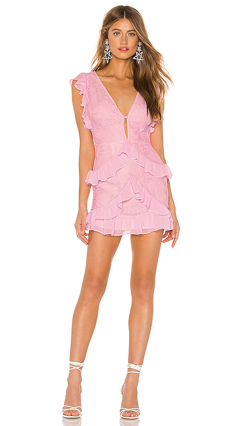 Lovers + Friends Kurt Mini Dress in Pink. - size XS (also in XXS,S,M,L,XL)