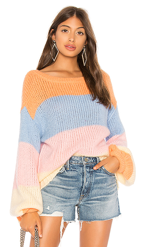 Lovers + Friends Lynn Sweater in Pink. - size S (also in XS,M,L)