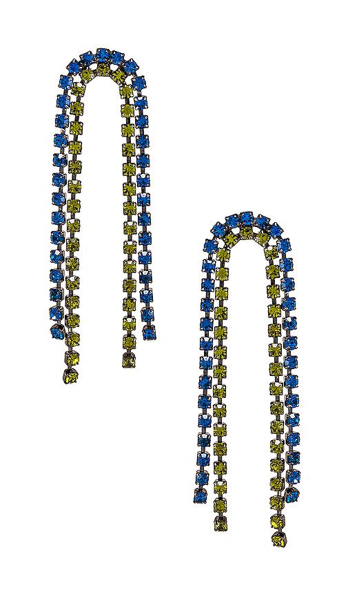 LARUICCI Crystal Earrings in Black.