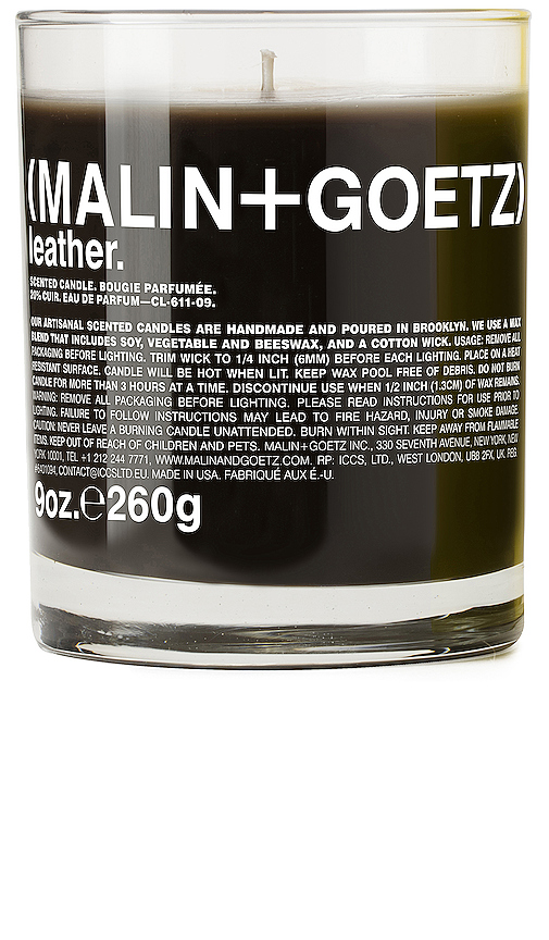 MALIN+GOETZ Leather Candle in Beauty: NA.