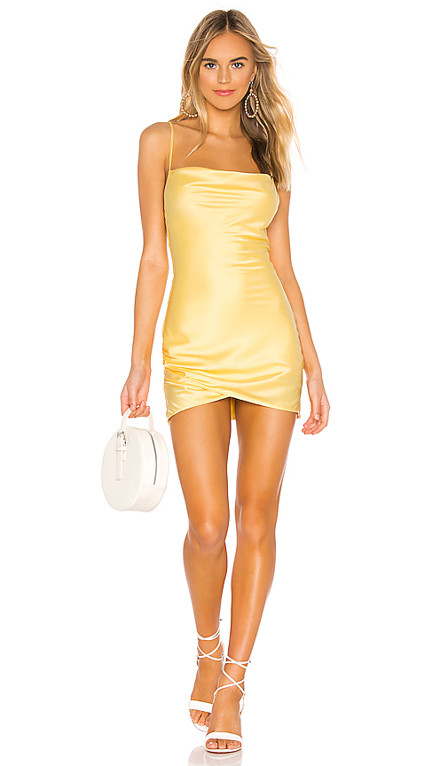 MAJORELLE Laurena Mini Dress in Yellow. - size XXS (also in XS,S,M,L,XL)