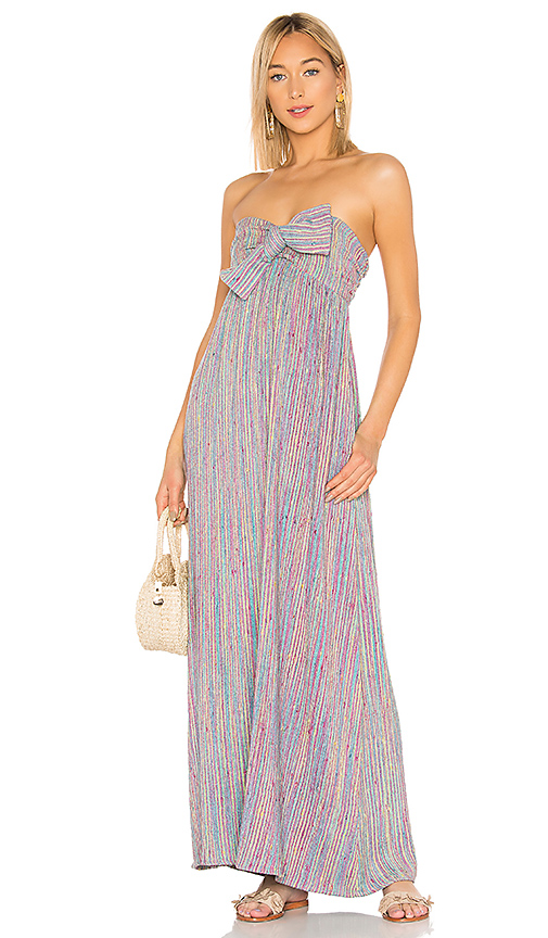 MAJORELLE Vienna Maxi Dress in Blue. - size XXS (also in XS,S,M,L,XL)