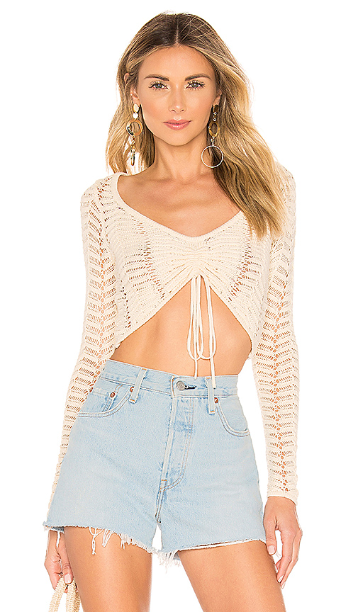 MAJORELLE Macadamia Sweater in Cream. - size L (also in XS,S,M)