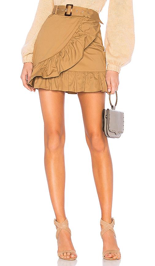 MAJORELLE Baldwin Mini Skirt in Tan. - size L (also in XL)