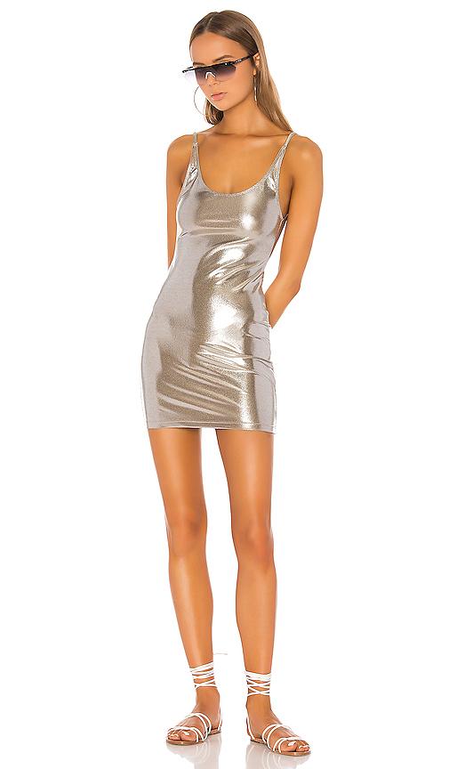 MINIMALE ANIMALE The Vista Dress in Metallic Silver. - size L (also in XS,S,M)