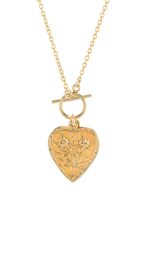Natalie B Jewelry Seraphina Necklace in Metallic Gold.