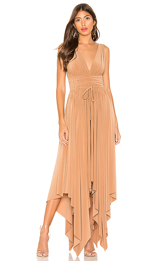Norma Kamali Goddess Dress in Brown. - size XS (also in S,XXS,M,L)