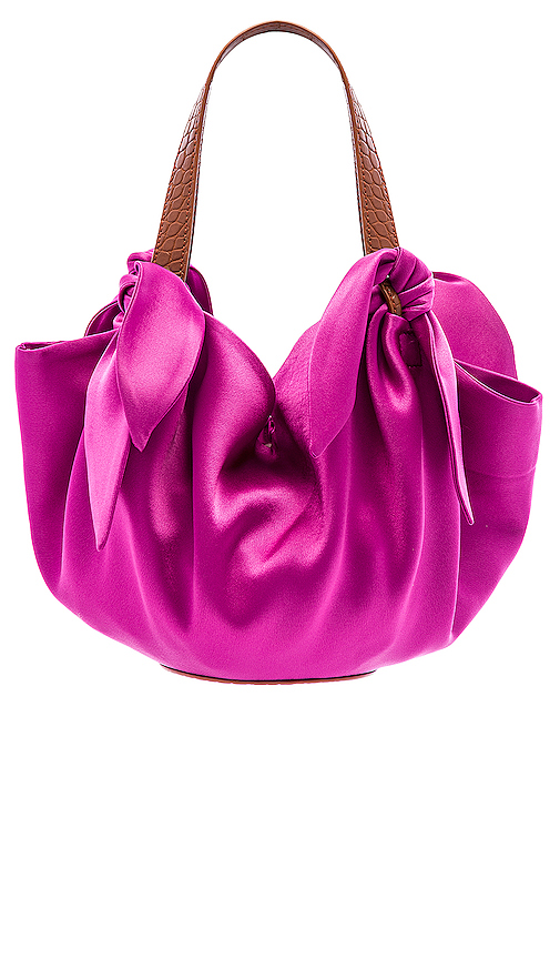 Nanushka Micro Inda Bag in Pink.