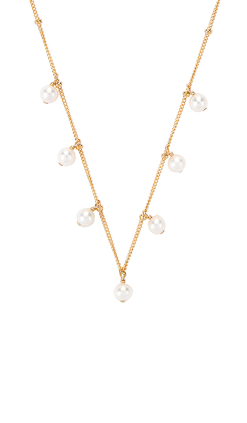 Paradigm Pearl Shaker Necklace in Metallic Gold.