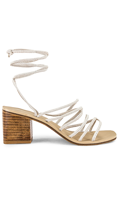RAYE Cross Sandal in White. - size 8 (also in 5.5,6,6.5,7,7.5,8.5,9,9.5,10)