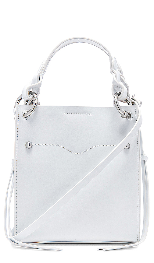 Rebecca Minkoff Kate Mini Tote in White.