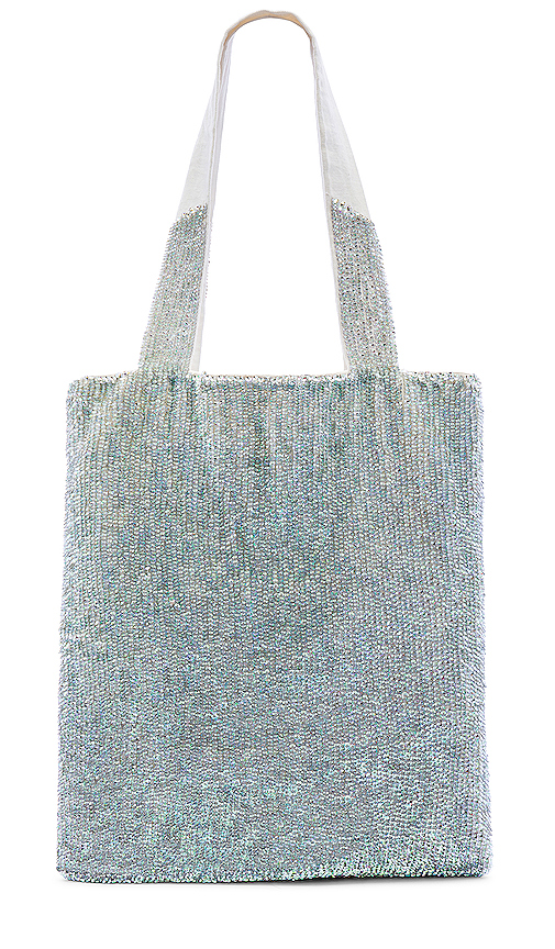 retrofete Tote Bag in Metallic Silver.