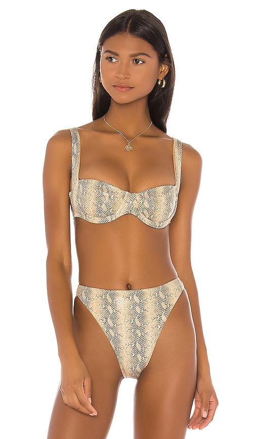 SAME Bra Bikini Top in Beige. - size S (also in XS,M,L)