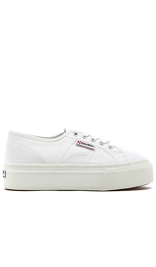 Superga 2790 Platform Sneaker in White. - size 9 (also in 6,6.5,7,7.5,8,8.5,9.5,10)