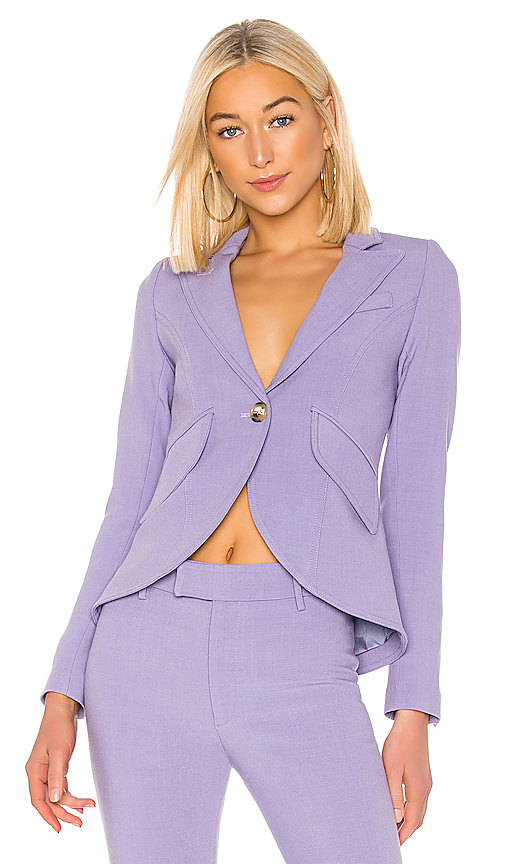 Smythe One Button Blazer in Lavender. - size 4 (also in 2,6)