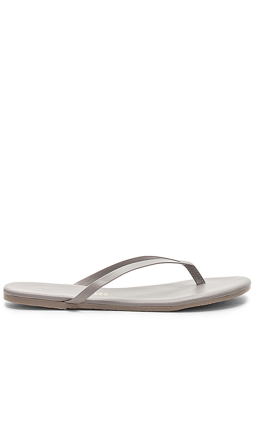 TKEES Solids Sandal in Gray. - size 8 (also in 6,7,9,10)